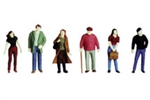 Plastruct 93332 O City Figures Unpainted Set #1 570-93332