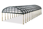Peco LK-20X HO Rounded Glass Trainshed Overall Roof Kit