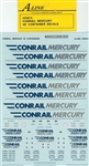 A Line 25815 HO Container Decals Conrail Mercury 48' 116-25815