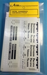 A Line 27700 HO Decal TTX/SP Yellow Car 116-27700