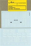 A Line 27703 HO Twin-Stack Car Decals Southern Pacific car 116-27703