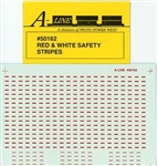 A Line 50162 HO Trlr Safety Strps Red/White 116-50162