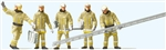 Preiser 10770 HO Modern Firemen Arriving at Scene with Accessories Beige Uniforms Pkg 5
