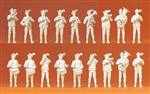 Preiser 16353 HO Working People Bavarian Band Unpainted Pkg 18