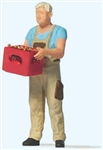 Preiser 28234 HO Man with Beer Crate Individual Figure