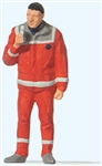 Preiser 28240 HO Paramedic Individual Figure Red Uniform