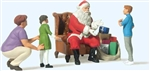 Preiser 44931 G Santa Claus-Father Christmas in Chair Mother w/ 3 Children