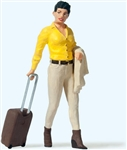 Preiser 45525 G Contemporary Woman Traveler with Suitcase