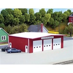 RIX5410192 Rix Products HO KIT Fire Station, Red