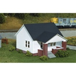 RIX6280203 Rix Products HO KIT Maxwell Ave House w/Side Porch