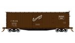 Rapido 130102 HO USRA 40' Double-Sheathed Wood Boxcar 4 Pack Chicago Burlington & Quincy