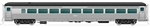 Rapido 17098 HO NH 8600 Series Stainless Steel Coach with Skirts Painted Unlettered