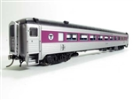 Rapido 17244 HO NH 8600 Series Stainless Steel Coach No Skirts Massachusetts Bay Transportation Authority MBTA #2517