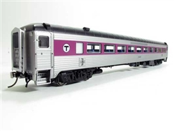 Rapido 17249 HO NH 8600 Series Stainless Steel Coach No Skirts Massachusetts Bay Transportation Authority MBTA #2561