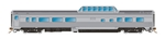 Rapido 550114 N Skyline Dome-Coach Painted Unlettered Stainless Steel