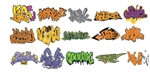 T2 Decals OSGRAF003 O Graffiti Decals Set #3