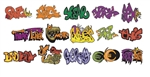 T2 Decals OSGRAF004 O Graffiti Decals Set #4