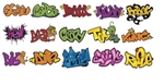 T2 Decals OSGRAF005 O Graffiti Decals Set #5