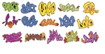 T2 Decals OSGRAF009 O Graffiti Decals Set #9