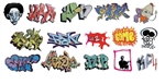 T2 Decals OSGRAF012 O Graffiti Decals Set #12
