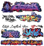 T2 Decals OSGRAF014 O Graffiti Decals Set #14