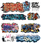 T2 Decals OSGRAF015 O Graffiti Decals Set #15