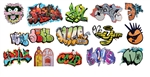 T2 Decals OSGRAF016 O Graffiti Decals Set #16