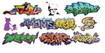 T2 Decals OSGRAF019 O Graffiti Decals Set #19