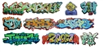 T2 Decals OSGRAF020 O Graffiti Decals Set #20