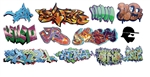 T2 Decals OSGRAF021 O Graffiti Decals Set #21