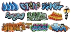 T2 Decals OSGRAF022 O Graffiti Decals Set #22