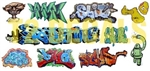 T2 Decals OSGRAF023 O Graffiti Decals Set #23