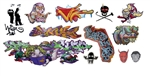 T2 Decals OSGRAF025 O Graffiti Decals Set #25