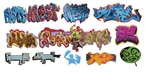 T2 Decals OSGRAF026 O Graffiti Decals Set #26