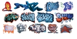 T2 Decals OSGRAF030 O Graffiti Decals Set #30