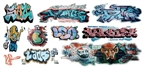 T2 Decals OSGRAF031 O Graffiti Decals Set #31