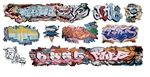T2 Decals OSGRAF033 O Graffiti Decals Set #33