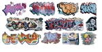 T2 Decals OSGRAF034 O Graffiti Decals Set #34