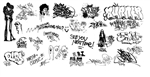 T2 Decals OSGRAF038 O Graffiti Decals Set #38