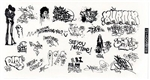 T2 Decals OSGRAF039 O Graffiti Decals Set #39
