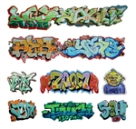 T2 Decals OSGRAF001 O Graffiti Decals Set #1