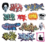 T2 Decals OSGRAF007 O Graffiti Decals Set #7