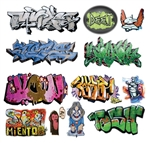 T2 Decals OSGRAF008 O Graffiti Decals Set #8
