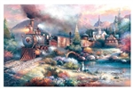 Train Enthusiast 18014 Maryland Mountain Express 1000 Pieces 19 x 30""