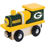 Train Enthusiast 415654 Football Team Wooden Engine Green Bay Packers