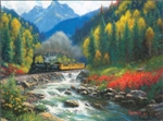 Train Enthusiast 53009 Durange & Silverton Train Puzzle 1000 Pieces