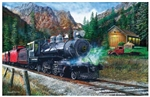 Train Enthusiast 55743 The Leinad Express Puzzle 1000 Pieces 19 x 30""