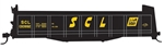 Tichy 10028O O Railroad Decal Set Seaboard Coast Line Stump Car
