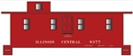 Tichy 10223O O Railroad Decal Set Illinois Central Side-Door Cupola Caboose Car No Logo
