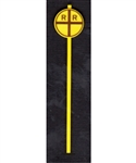 Tichy 2062 O Early Grade Crossing Advance Warning Signs Vertical Cross Pkg 8